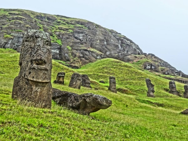 The Moai Quarry on Easter Island in HDR Style