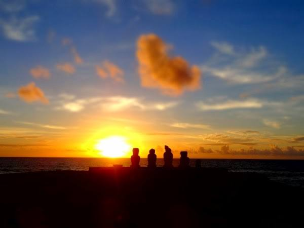 The best sunset we had on Easter Island