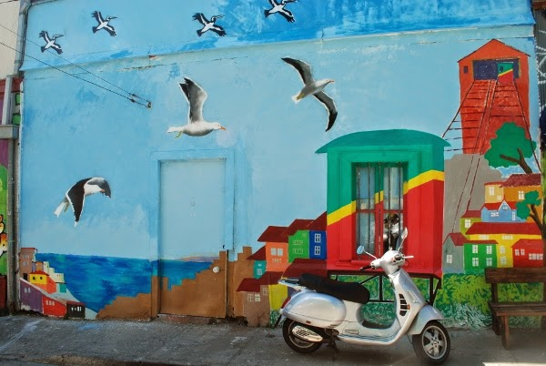 Valparaiso is full of hundreds of colorful murals