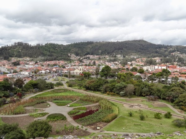 Overlooking Cuenca from the Inca Ruins