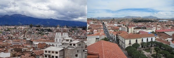 Cuenca on the left, Sucre on the Right