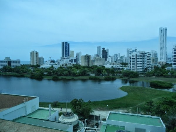 View from our window at the Hilton Cartagena