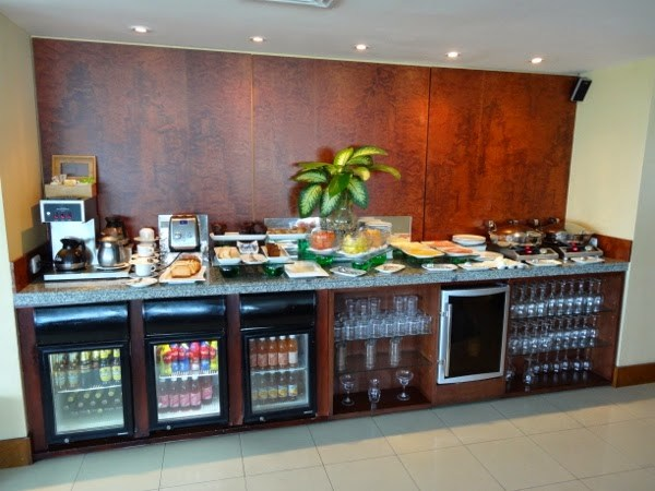 Breakfust Buffet at the Executive Lounge at the Hilton Cartagena