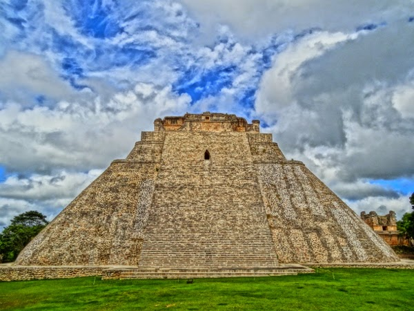 The ruins of Uxmal outside of Merida, Mexico in the Yucatan