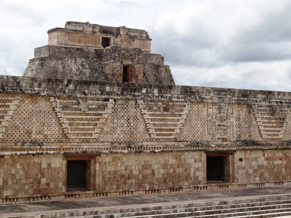 The empty ruins of Uxmal outside of Merida, Mexico in the Yucatan