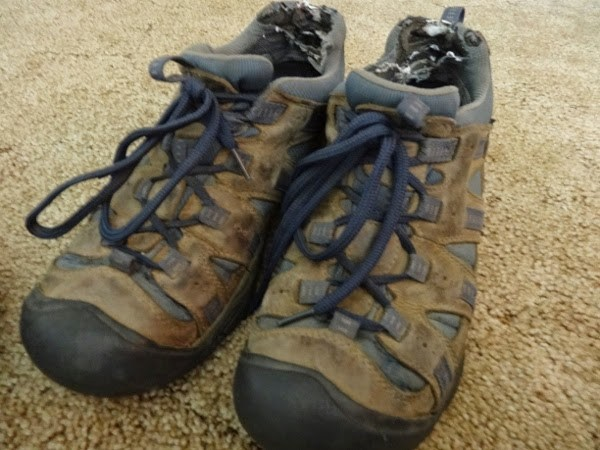 Jeremy's KEEN shoes for men after 15 months of travel