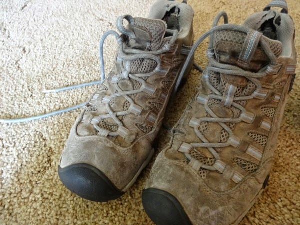Angie's KEEN shoes for women after 15 months of travel