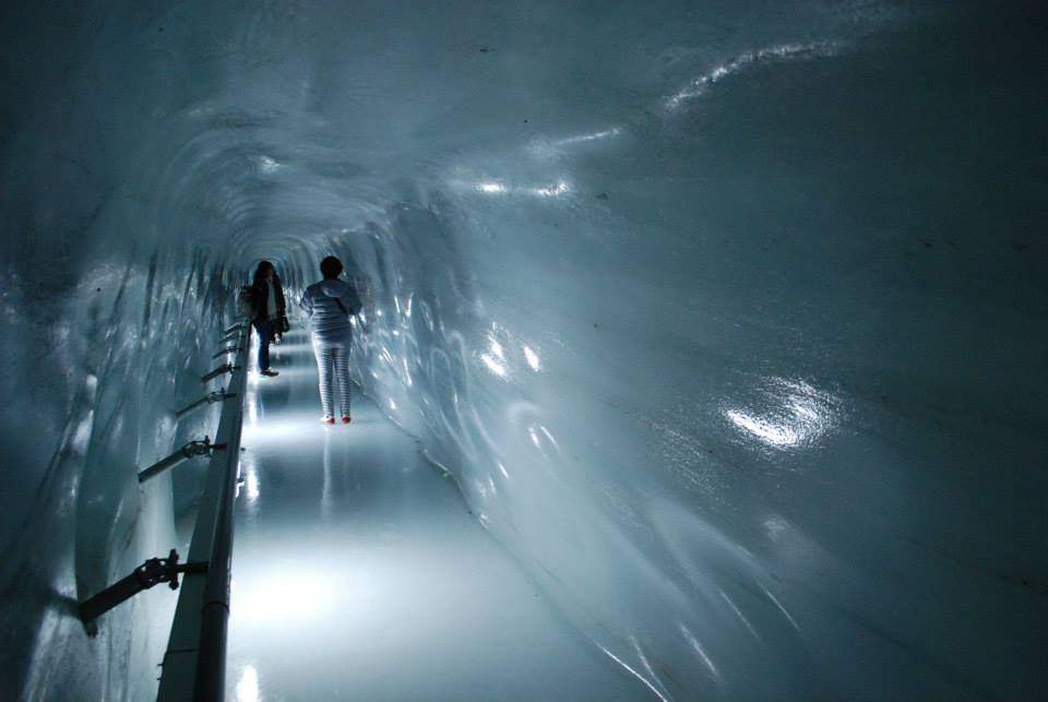 Ice Tunnel Mount Jungfrau in Lauterbrunnen, by www.livingthedreamrtw.com