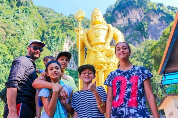 Morgans Go Travelling at the Batu Caves in Malaysia