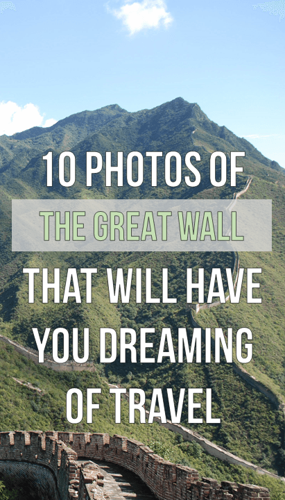 Great Wall of China on Pinterest