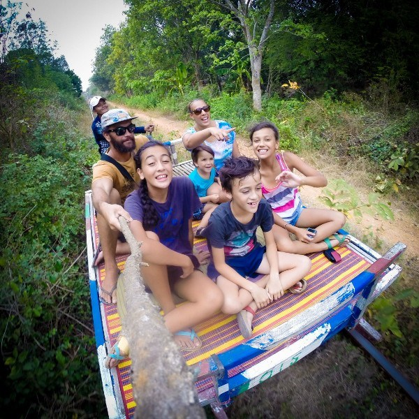 Bamboo Train in Cambodia