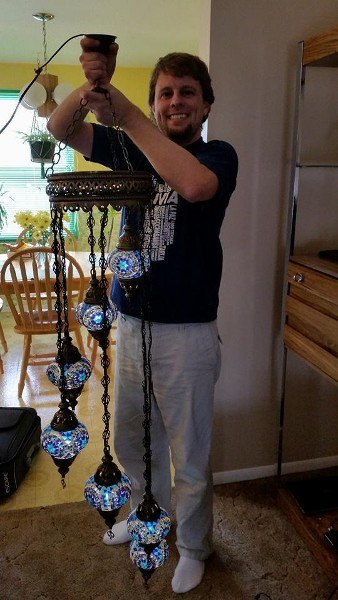 Hanging a Turkish Lamp at Home