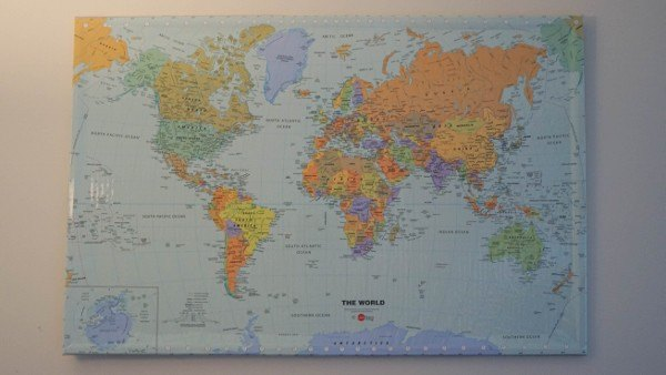 Building Our Own Travel Map at Home