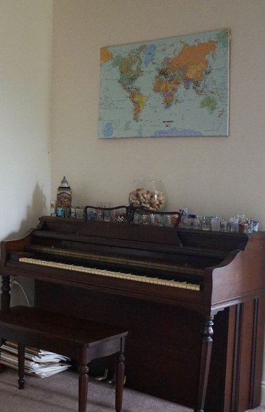 The Travel Piano Bar is Growing Thanks to Our Push Pin World Map