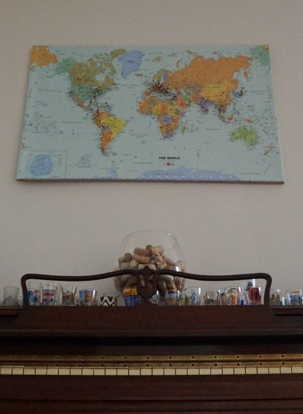 A Completed DIY Travel Pin Map