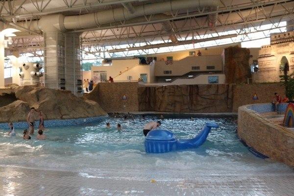 Inside the Termy Maltanskie AquaPark in Poznan, Poland