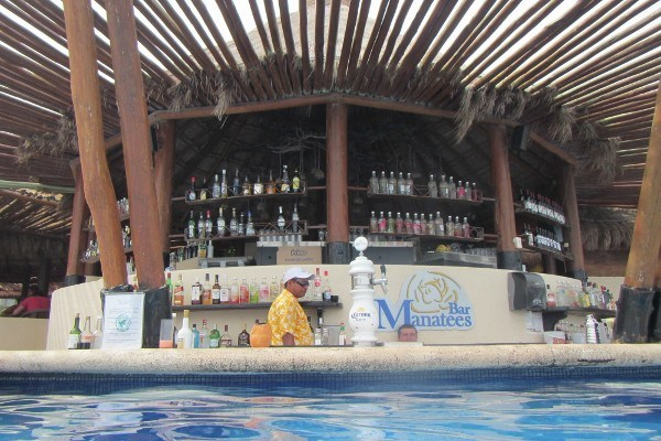Drinking in Mexico at a Cancun All Inclusive