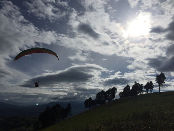 Paragliding in Ecuador
