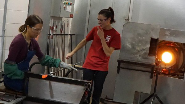 Glass Pulling at the Corning Museum of Glass