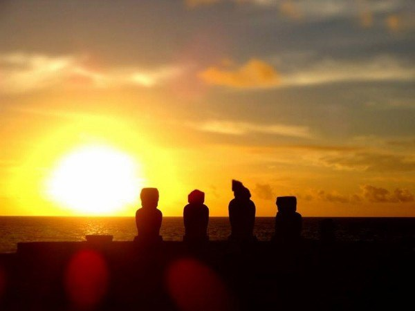 Easter Island at Sunset