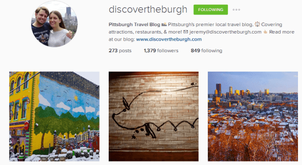 Discover the Burgh Instagram