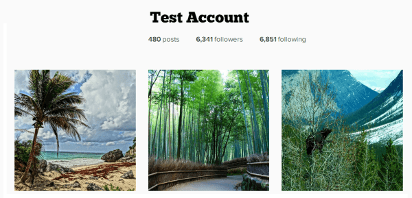 Test Account Instagram