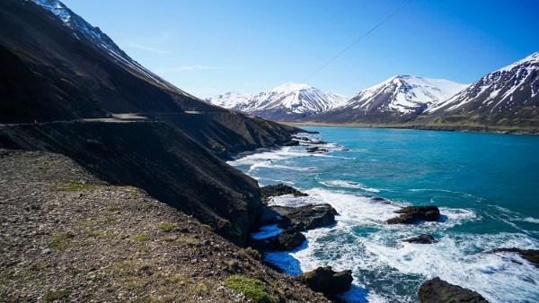 Driving to Borgarfjordur, Iceland