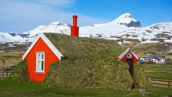 Turf Houses in Iceland at Borgarfjordur Eystri