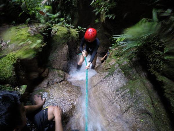 Waterfalls in the Amazon Rainforest