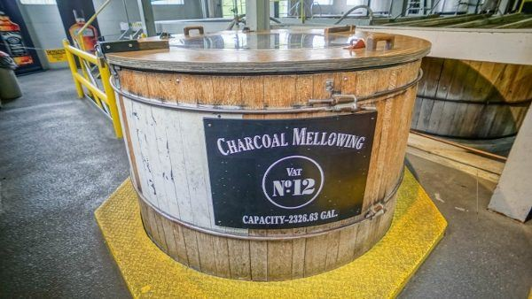 Charcoal Mellowing at Jack Daniels Distillery Tour