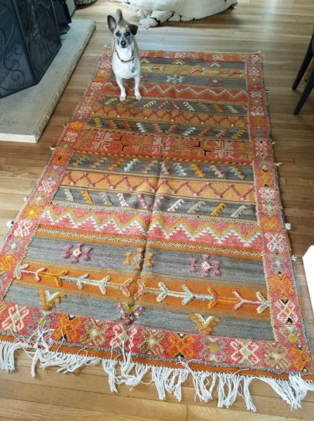 A Moroccan rug we purchased for a friend.