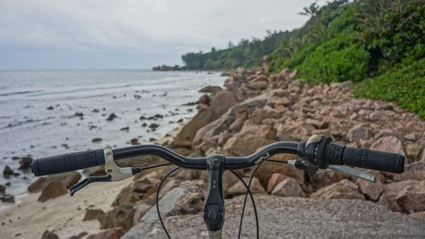 Biking on La Digue, Seychelles