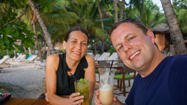 Drinks at the Takamaka Beach Bar on Praslin