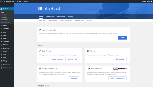 Steps to Install WordPress on Bluehost server