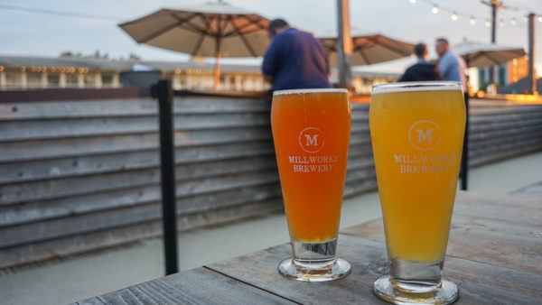 Rooftop beers at Millworks Brewery