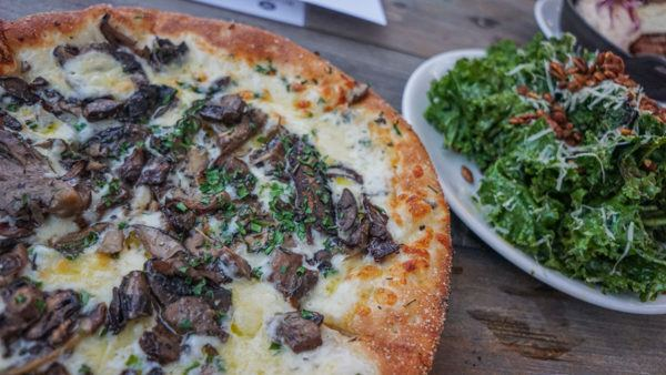 Pizza made with local ingredients at Millworks Brewing