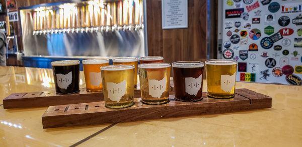 Flight at Fretboard Brewing Company