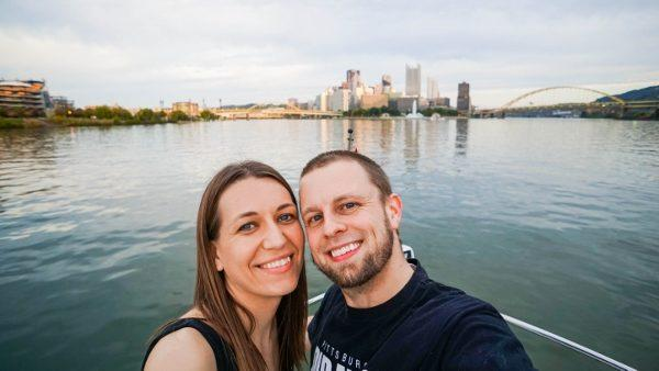 Jeremy and Angie in their home of Pittsburgh