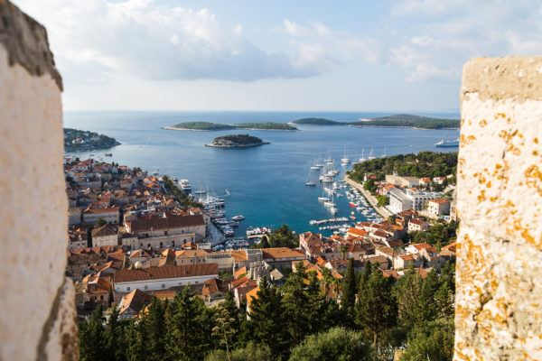 Hvar from Hvar Fortress