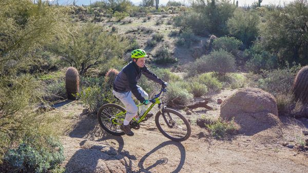 Biking at Usery Mountain Regional Park