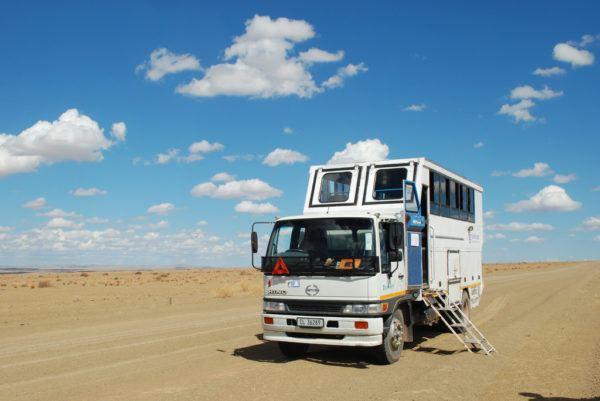 G Adventures Safari Vehicle in Namibia