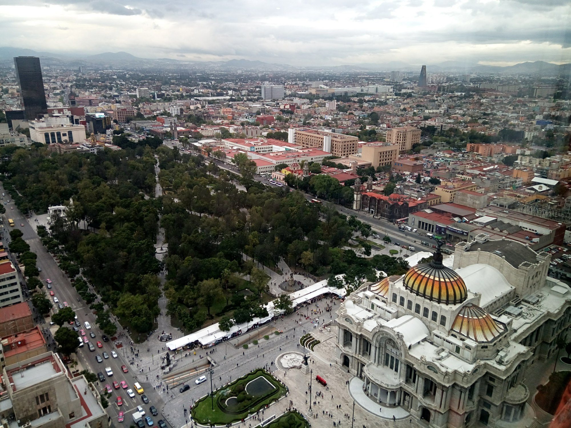 View from Torree Latinoamericiana