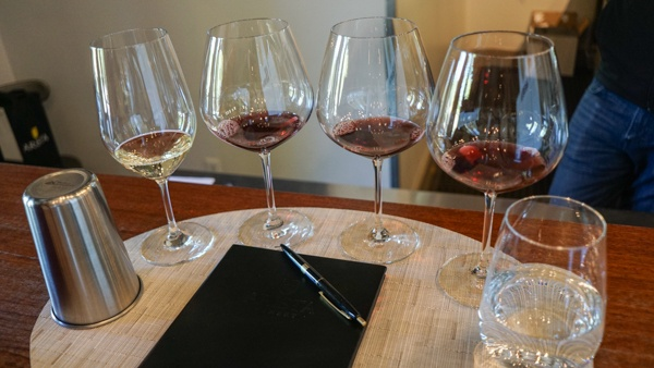tasting at Arista Winery