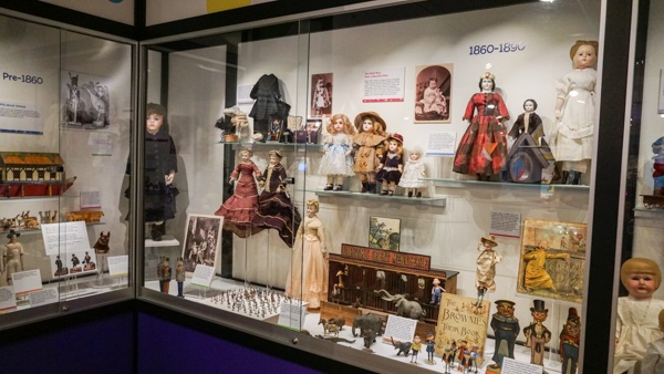 Doll collection at the Strong Museum in Rochester