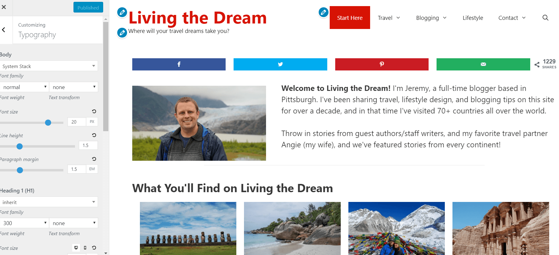 Living the Dream on Generate Press Theme