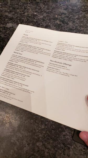 Trillium Beer List