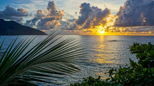Sunset on Mahe