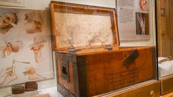 Medical Kit at the Civil War Medicine Museum