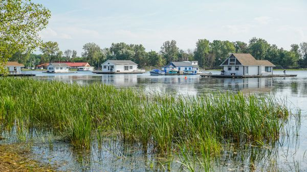 Floating Houses at Presque Isle