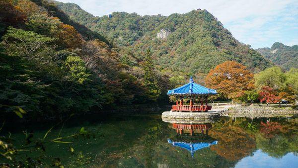 Uhwajeong Pavilion at Naejangsan National Park